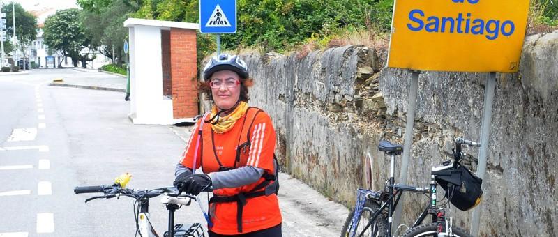 Conheça Compostela pelo pedal de Clara
