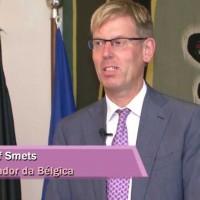 Embaixador da Bélgica recebe com coquetel o Secretário de Comércio Exterior do seu país