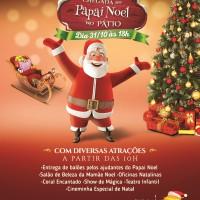 Papai Noel chega dia 31 de outubro no Pátio Brasil