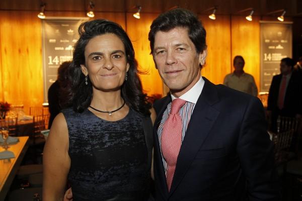 Embaixatriz Rita Cabral e o embaixador de Portugal no Brasil, Jorge Cabral.